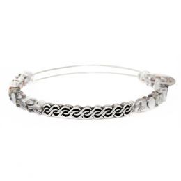 Winding Road Expandable Wire Bangle is Slate