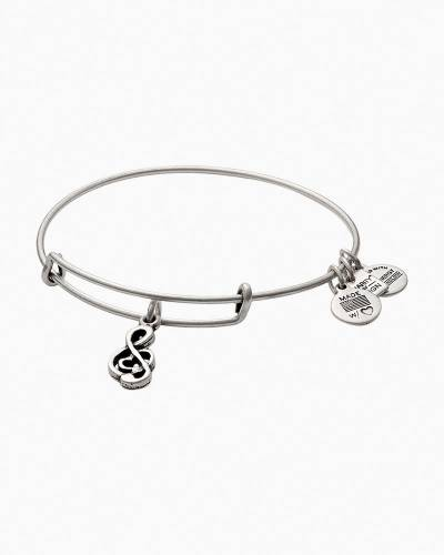 Sweet Melody Charm Bangle in Rafaelian Silver | VH1 Save The Music Foundation