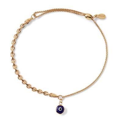 Evil Eye Track Pull Chain Bracelet