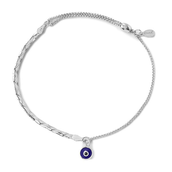 Evil Eye Cobra Pull Chain Bracelet