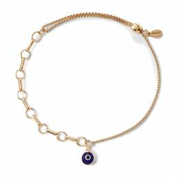 Alex and Ani Evil Eye Bar Ring Pull Chain Bracelet