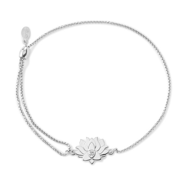 Alex and Ani Lotus Peace Petals Pull Chain Bracelet in Sterling Silver