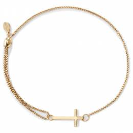 ALEX AND ANI Cross Pull Chain Bracelet