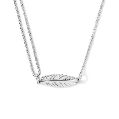 Feather Pull Chain Necklace
