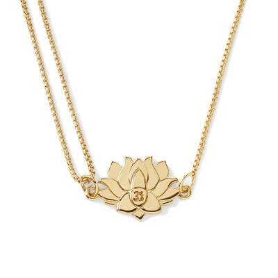 Lotus Peace Petals Pull Chain Necklace