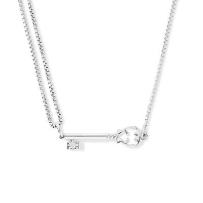 Skeleton Key Pull Chain Necklace