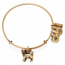 Alex and Ani Monopoly Cat Expandable Wire Bangle in Rafaelian Gold Finish