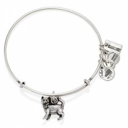 Alex and Ani Monopoly Cat Expandable Wire Bangle in Rafaelian Silver Finish