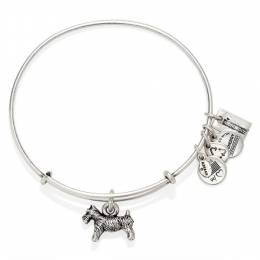 Alex and Ani Monopoly Dog Expandable Wire Bangle in Rafaelian Silver Finish