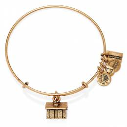 Alex and Ani Monopoly House Expandable Wire Bangle in Rafaelian Gold Finish