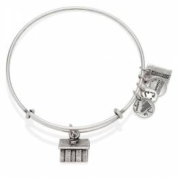 Alex and Ani Monopoly House Expandable Wire Bangle in Rafaelian Silver Finish