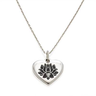 LOTUS PEACE PETALS Heart Expandable Necklace
