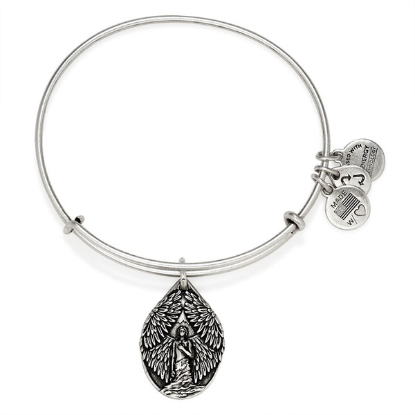 Alex and Ani Guardian Of Peace Charm Bangle in Rafaelian Silver Finish