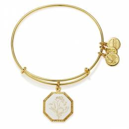 Alex and Ani Fortune's Bliss Sweet Pea Charm Bangle