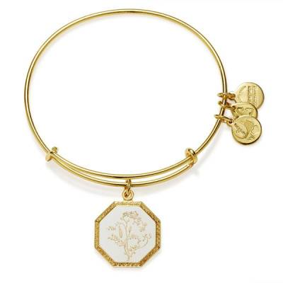 Fortune's Bliss Sweet Pea Charm Bangle