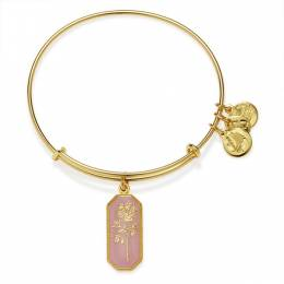 Alex and Ani Road To Romance Rose Charm Bangle