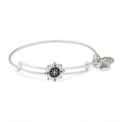 Compass Slider Charm Bangle