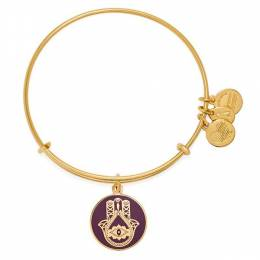 Alex and Ani Cabernet Hand Of Fatima Charm Bangle
