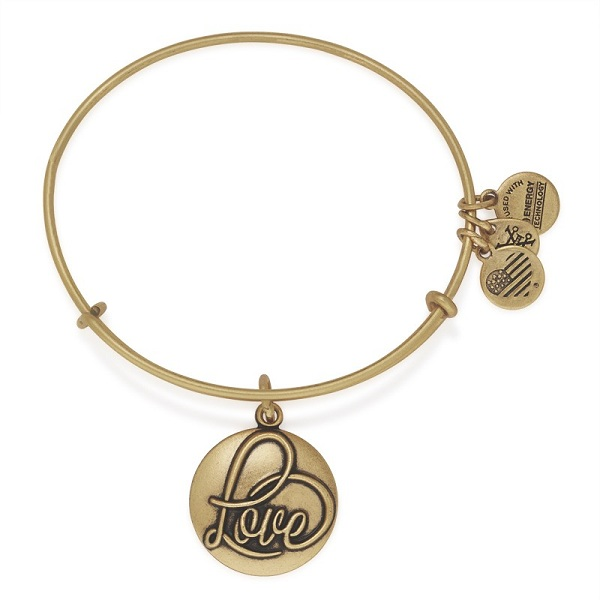 Alex and Ani Love Expandable Charm Bangle in Rafaelian Gold