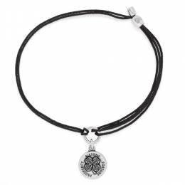 Alex and Ani Four Leaf Clover Pull Cord Bracelet