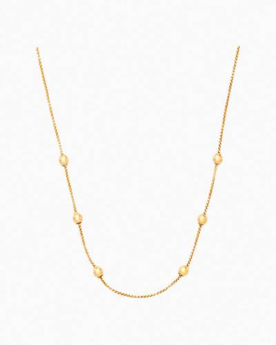 32-inch Expandable Chain Necklace in 14k Gold Plated