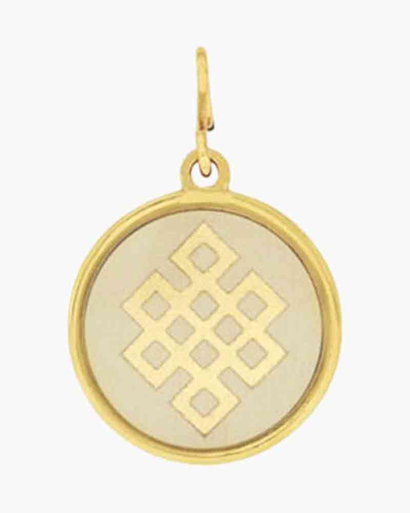 Alex and Ani Endless Knot Two Tone Charm