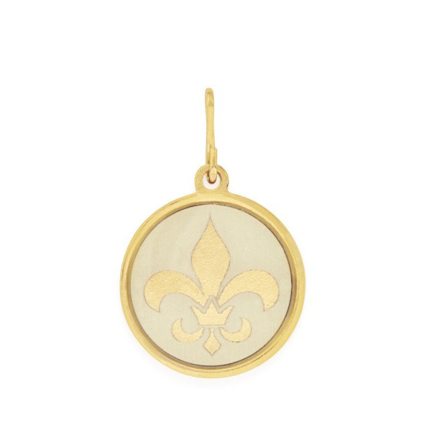 Alex and Ani Fleur De Lis Two Tone Charm