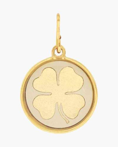 Four Leaf Clover Two Tone Charm