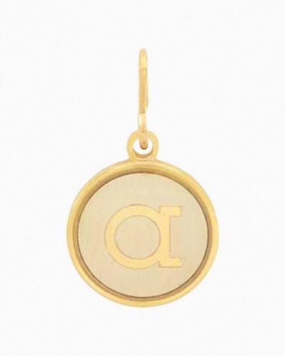 Initial A Two Tone Charm