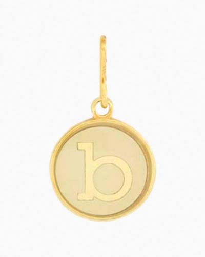 Initial B Two Tone Charm