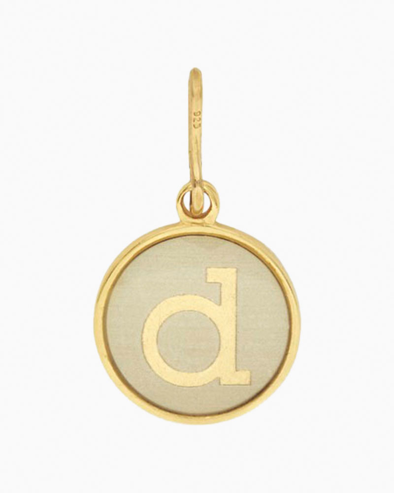 Alex and Ani Initial D Two Tone Charm