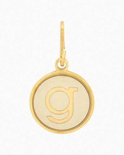 Initial G Two Tone Charm