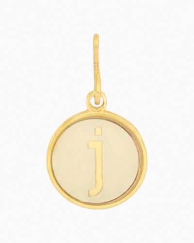 Initial J Two Tone Charm