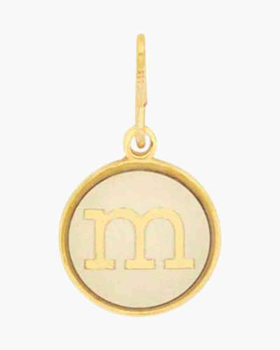 Initial M Two Tone Charm