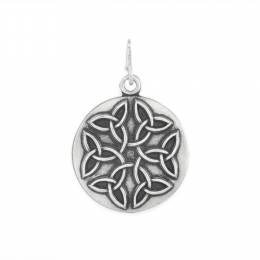 Alex and Ani Endless Knot Charm in Rafaelian Silver