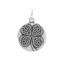 Alex and Ani Four Leaf Clover Charm in Rafaelian Silver