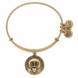 Alex and Ani Claddagh Charm Bangle in Rafaelian Gold