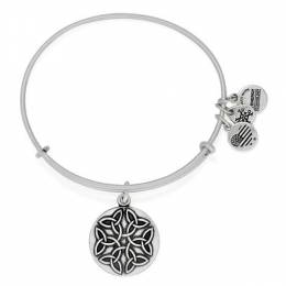 Alex and Ani Endless Knot Charm Bangle in Rafaelian Silver