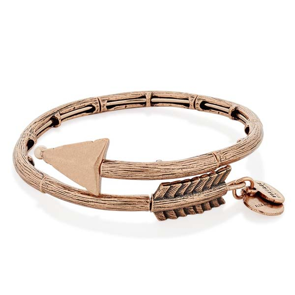 Alex and Ani Eros Arrow Wrap in Rose Gold Finish
