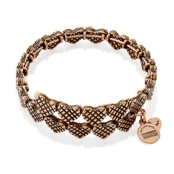 Alex and Ani Romance Heart Wrap in Rose Gold Finish