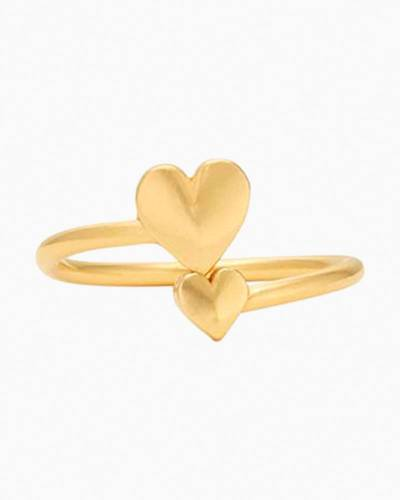 Romance Heart Ring Wrap in Gold