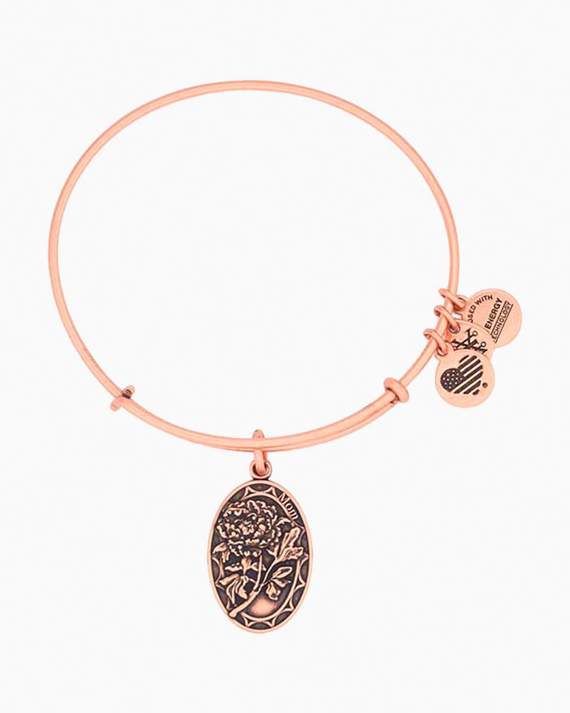 Alex and Ani Mom Expandable Wire Bangle in Rafaelian Rose Gold