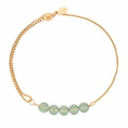 Alex and Ani Orchid Crystal Infusion Pull Chain Bracelet