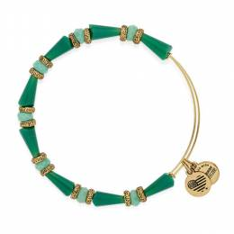 Alex and Ani Harmony Beaded Expandable Wire Bangle in Pasture