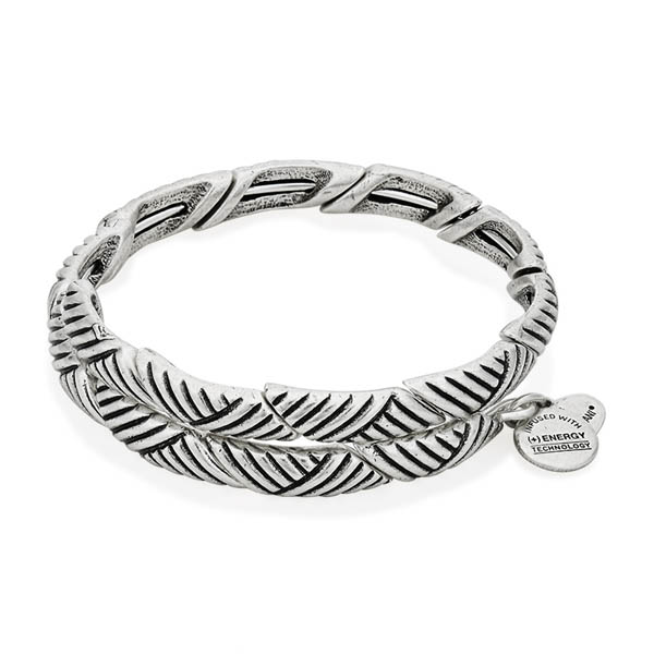 Alex and Ani Rolling Hills Wrap in Rafaelian Silver Finish
