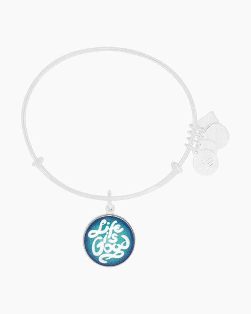 ALEX AND ANI Life Is Good Expandable Wire Bangle