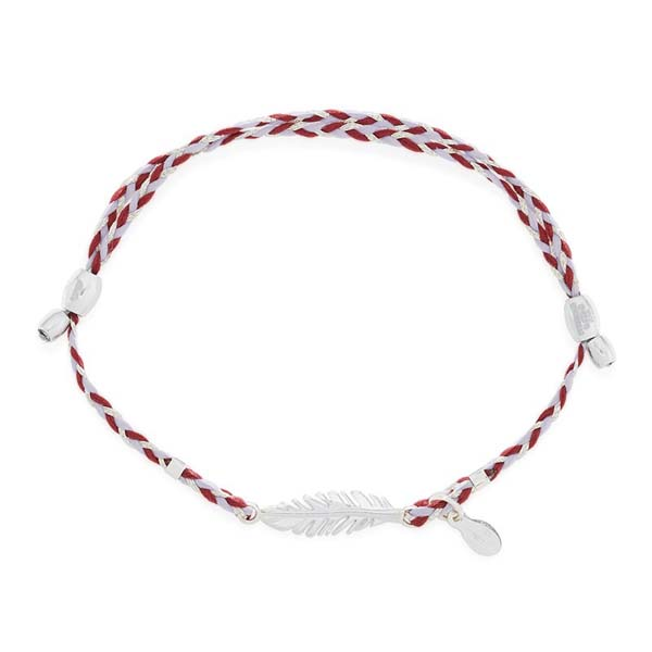 Alex and Ani Feather Expandable Precious Threads Bracelet