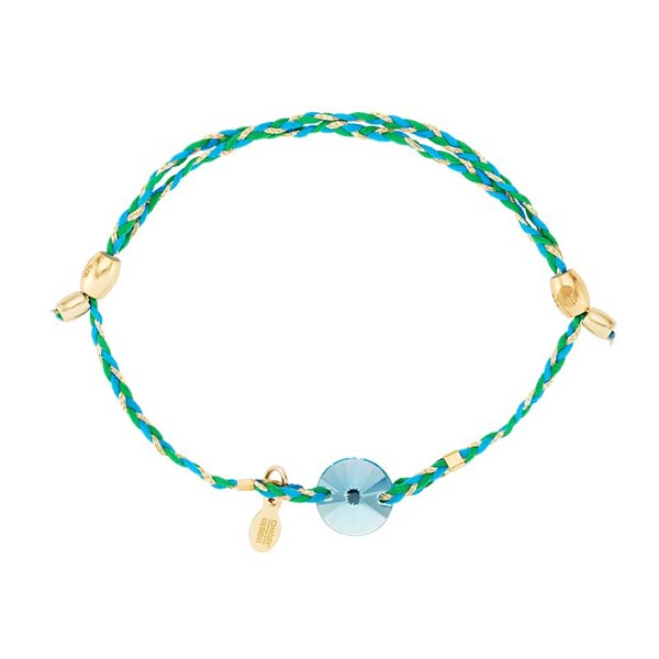 Alex and Ani Light Turquoise Swarovski Crystal Expandable Precious Threads Bracelet