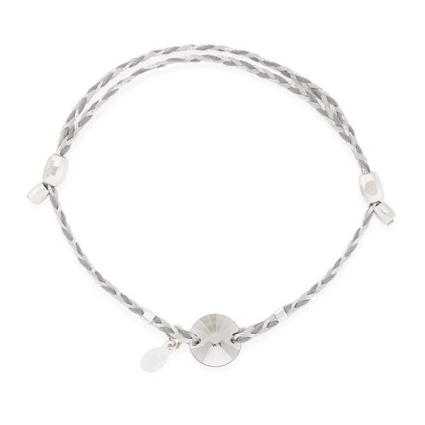 Alex and Ani Satin Swarovski Crystal Expandable Precious Threads Bracelet