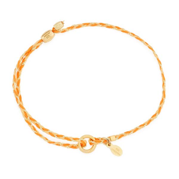 Alex and Ani Orange Precious Threads Bracelet